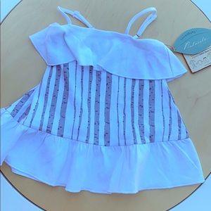 Lovedbaby white birch tree spring tank dress